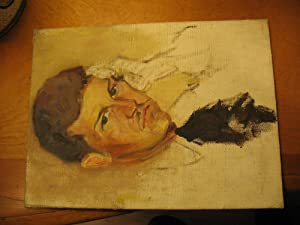 George Orwell [A Small Original Portrait in Oil]