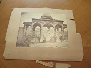 Large Very Early Photograph of the Magnesia Temple at Sharon Springs