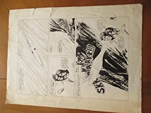 (Science Fiction Art) Original Comic Art Drawing, Probably Golden Age Or Silver Age
