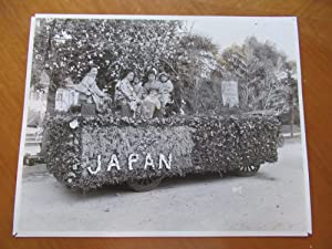Original Photograph Of Japan Float, Tournament Of Roses {Rose Parade], Jan 1, 1917 (With Grand Ho...