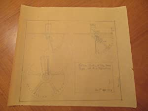 Original Pencil Mechanical Drawing By Russell W Porter For