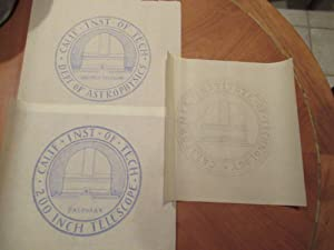 Three Original Drawings By Russell W. Porter For Projected Seal For California Institute Of Techn...