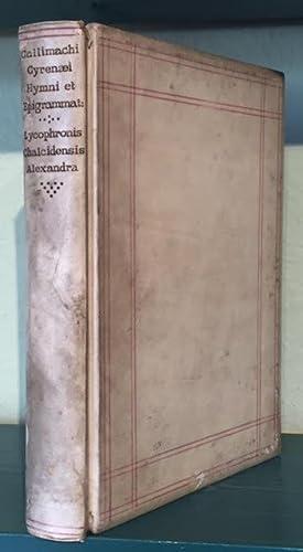 Callimachi Cyrenaei Hymni (cum suis scholiis Graecis): Callimachi Cyrenaei [Callimachus]