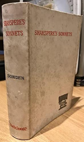 The Sonnets of William Shakspere [Shakespeare]