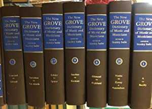 The New Grove Dictionary of Music and Musicians - 20 volumes