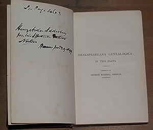 Shakspeareana genealogica: French, George Russell