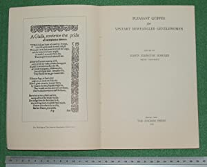 Pleasant quippes for vpstart newfangled gentlewomen: Howard, Edwin Johnston [edited by]