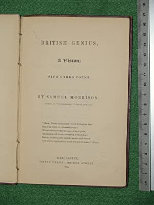 British genius, a vision; with other poems: Morrison, Samuel