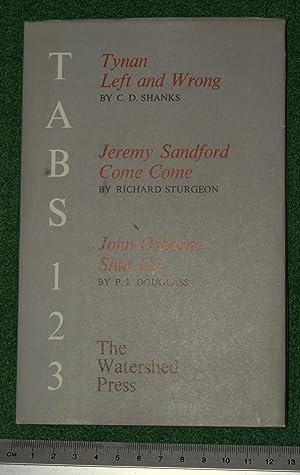 Tab 1 - Tab 2 - Tab 3: Shanks, C.D. - Sturgeon, Richard - Douglass, P.I.