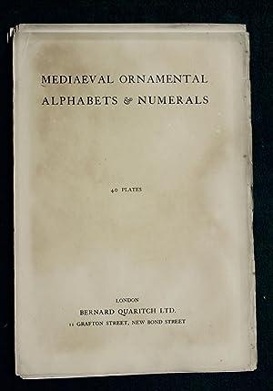 Mediaeval ornamental alphabets & numerals - 40 plates