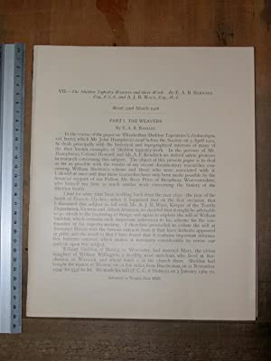 The Sheldon tapestry weavers and their work. Read 22nd March 1928. Extract from Archaeologia: ...