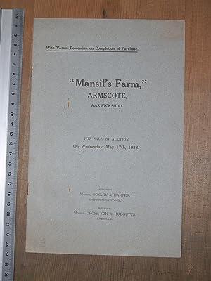 Mansil's Farm Armscote, Warwickshire for sale by: Bosley & Harper