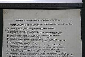 Schedule of deeds belonging to Sir Thomas Phillipps, Bart