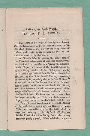 Letter of an Irish Priest, the Rev F.J. Burke
