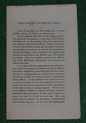 Romanism in the British army: A Protestant Soldier