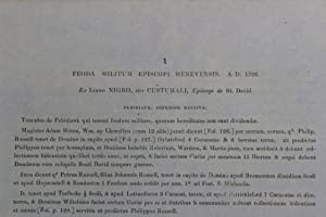 Feoda militum episcopi Menevensis AD 1326. Ex libro nigro, sive costumali, episcopi de St David
