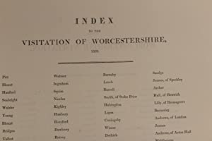 Index to the Visitation of Worcestershire, 1569. Index to the Worcestershire Visitation, 1684