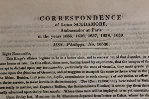 Correspondence of Lord Scudamore, Ambassador at Paris in the years 1635, 1636, 1637, 1638, 1639. Ms...