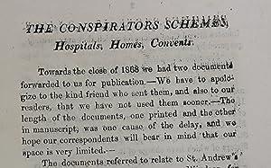 The conspirators schemes, hospitals, homes, convents