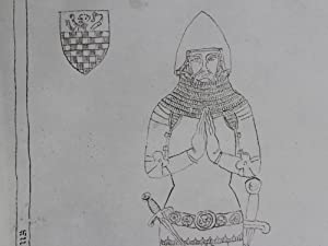 Chinnar Oxfordshire - Chinnor - lithographic image of a monumental brass