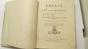 Essais sur L'Hygrometrie: Saussure, Horace-Benedict de