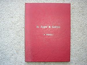 de Zoete & Gorton, A History.