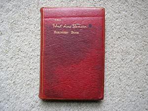 The Stevenson Birthday Book, Thoughts & Aphorisms: Robert Louis Stevenson.