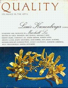 Quality: Its Images in the Arts: Kronenberger, Louis (Edited
