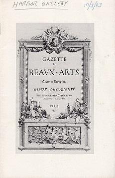 Harbor Gallery presents Gazette des Beaux-Arts: Zarzynski, Chris