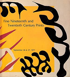Fine Nineteenth and Twentieth Century Prints and: Sotheby's