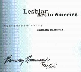 Lesbian Art in America: A Contemporary History: Hammond, Harmony