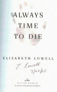Always Time to Die: Lowell, Elizabeth