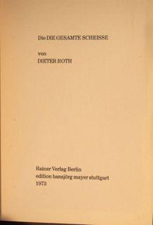 Die Die Gesamte Scheisse Von Dieter Roth 103