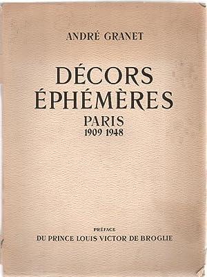 Decors Ephemeres: Les Expositions Jeux d'Eau et: Granet, Andre