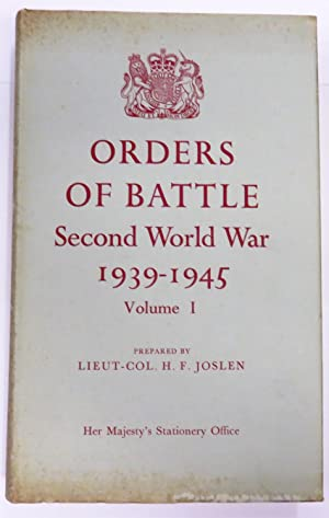 Orders Of Battle Of The Second World: Prepared by Lieut.