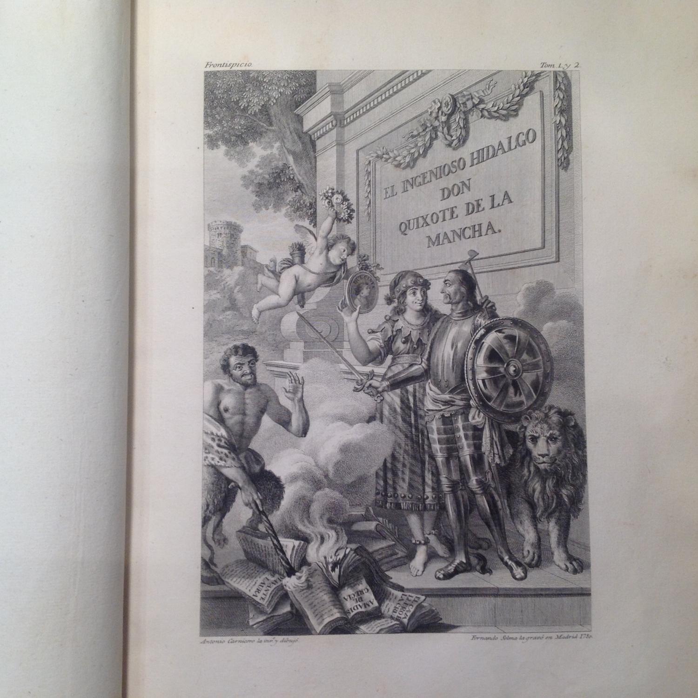 El Ingenioso hidalgo Don Quixote de la Mancha. Nueva Edicion corregida por la Real Academia ...