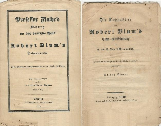 Professor Flathes Mahnung An Das Deutsche Volk Bei Robert Blums