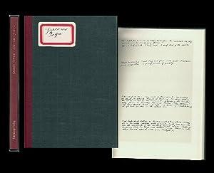 Giacomo Joyce. Hrsg. von Richard Ellmann. Übersetzt: Joyce, James (1882-1941):