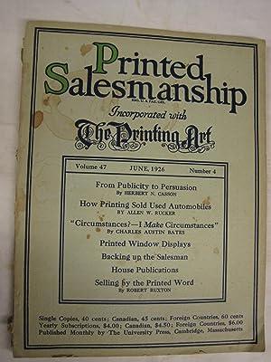 Printed Salesmanship. Volume 47, Number 4, June