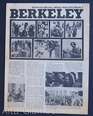 BERKELEY; Governor Brown; What Have You Done