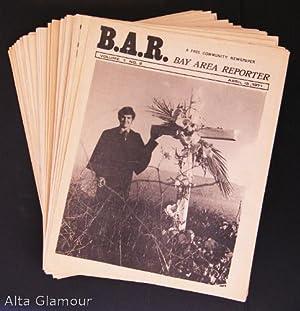 B.A.R. - BAY AREA REPORTER [set of 32 issues] Vol. 1 No. 2, No. 3, No. 5, No. 6, No. 7, No. 8, No. ...