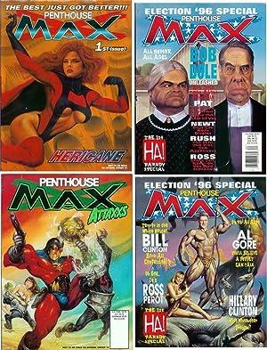 PENTHOUSE MAX [set of three magazines] No. 1, No. 2, No. 3, July 1996, November 1996, Spring 1997