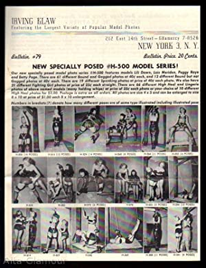 IRVING KLAW BULLETIN #79; Featuring the Largest Variety of Popular Model Photos New Specially Posed...