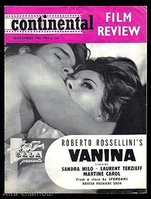 CONTINENTAL FILM REVIEW November 1962