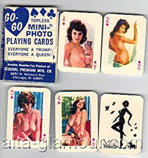 GO-GO TOPLESS MINI-PHOTO PLAYING CARDS; Everyone a Trump! Everyone a Queen!: Playing Cards]