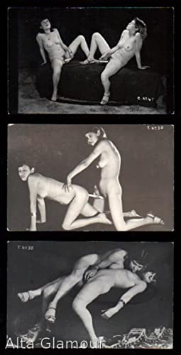 THREE MEXICAN PHOTO POSTCARDS - LESBIAN SCENE