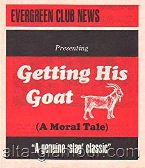 EVERGREEN CLUB NEWS. Getting His Goat (A Moral Tale) --A Genuine 'Stag' Classic unnumbered