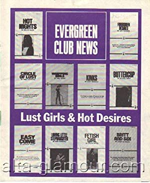 EVERGREEN CLUB NEWS. Lust Girls & Hot Desires unnumbered