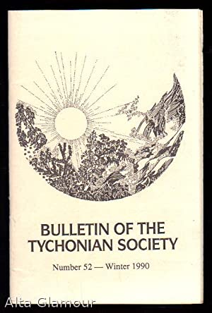 BULLETIN OF THE TYCHONIAN SOCIETY No. 52, Winter 1990: Bouw (editor), Geradus D.