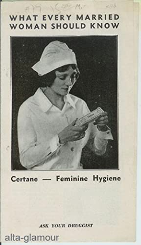 WHAT EVERY MARRIED WOMAN SHOULD KNOW. Certane    Feminine Hygiene